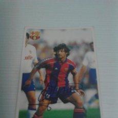 Coleccionismo deportivo: CROMO AUTOGRAFIADO BAKERO (BARCELONA).. Lote 122109823