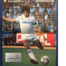 Coleccionismo deportivo: POSTER DE CAMACHO CON AUTOGRAFO A PUÑO Y LETRA. Lote 123115951