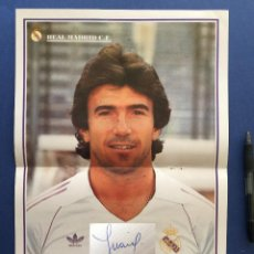 Coleccionismo deportivo: POSTER DE JUANITO CON AUTOGRAFO A PUÑO Y LETRA. Lote 123138067