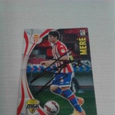 Coleccionismo deportivo: CROMO AUTOGRAFIADO MERÉ (SPORTING).. Lote 124532739
