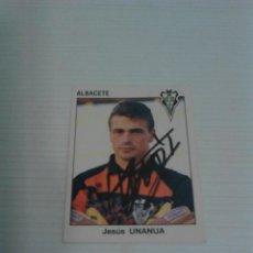 Coleccionismo deportivo: CROMO AUTOGRAFIADO UNANUA (ALBACETE).. Lote 124535647