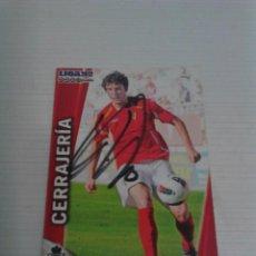 Coleccionismo deportivo: CROMO AUTOGRAFIADO CERRAJERÍA (MURCIA).. Lote 124549683