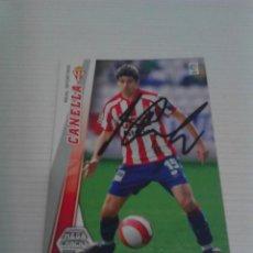 Coleccionismo deportivo: CROMO AUTOGRAFIADO CANELLA (SPORTING). Lote 124552579