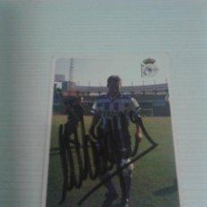 Coleccionismo deportivo: CROMO AUTOGRAFIADO M. VÁZQUEZ (DEPORTIVO).. Lote 125161043