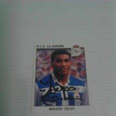 Coleccionismo deportivo: CROMO AUTOGRAFIADO MAURO SILVA (DEPORTIVO).. Lote 125196299