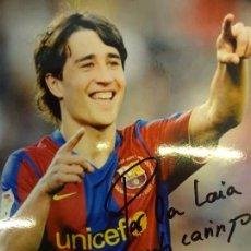 Coleccionismo deportivo: BOJAN KRKIC. FC BARCELONA. FOTO CON AUTÓGRAFO Y DEDICATORIA ORIGINAL. 20 X 15 CTMS.. Lote 128256151
