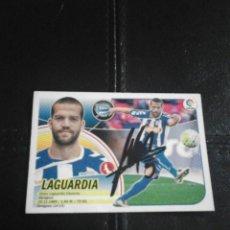 Coleccionismo deportivo: LAGUARDIA DPTVO. ALAVÉS CROMO AUTOGRAFIADO.. Lote 128478179