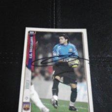 Coleccionismo deportivo: RUBÉN F.C. BARCELONA CROMO AUTOGRAFIADO.. Lote 128479487