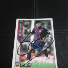 Coleccionismo deportivo: GERARD F.C. BARCELONA CROMO AUTOGRAFIADO.. Lote 128479779