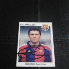 Coleccionismo deportivo: EUSEBIO F.C. BARCELONA CROMO AUTOGRAFIADO.. Lote 128479891