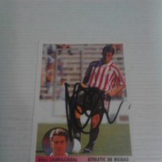 Coleccionismo deportivo: CROMO AUTÓGRAFIADO LARRAZABAL ATHLETIC CLUB.. Lote 133668490