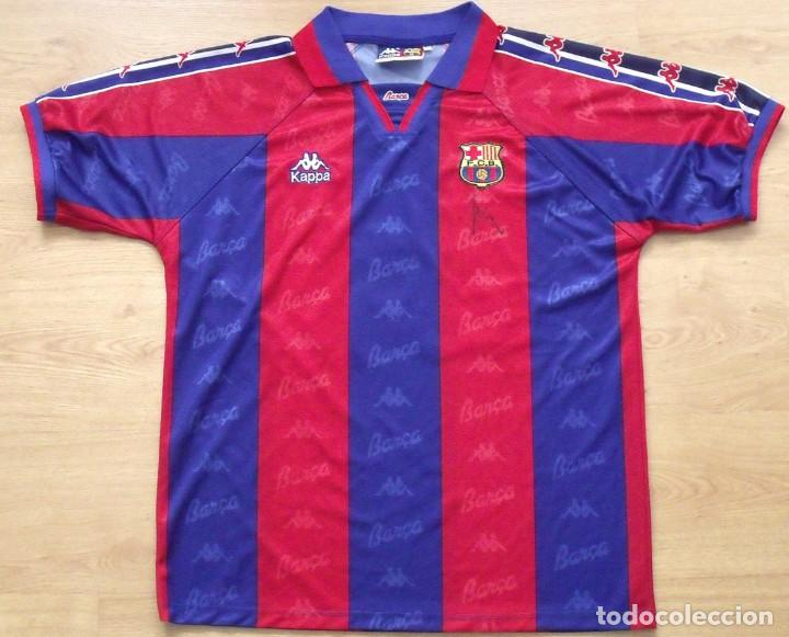 camiseta futbol f.c.barcelona. autógrafo 08f9e2c3470