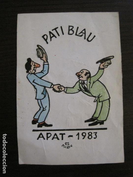 AUTOGRAFOS- MENU APAT ANY 1983-PATI BLAU-ESPORTS MUNTANYA-VER FOTOS -(V-15.062) (Coleccionismo Deportivo - Documentos de Deportes - Autógrafos)