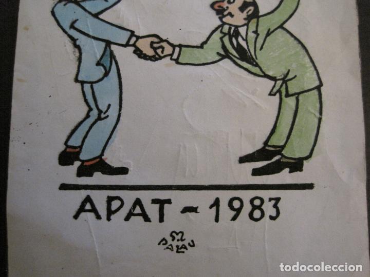 Coleccionismo deportivo: AUTOGRAFOS- MENU APAT ANY 1983-PATI BLAU-ESPORTS MUNTANYA-VER FOTOS -(V-15.062) - Foto 3 - 136622158