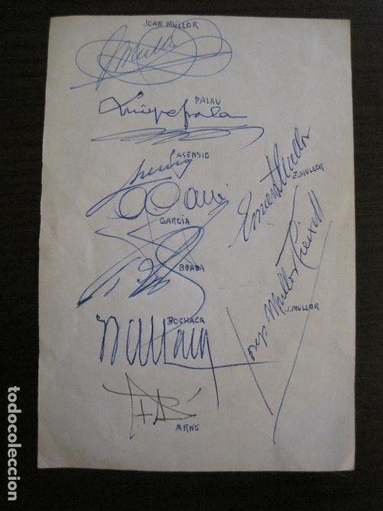 Coleccionismo deportivo: AUTOGRAFOS- MENU APAT ANY 1983-PATI BLAU-ESPORTS MUNTANYA-VER FOTOS -(V-15.062) - Foto 5 - 136622158