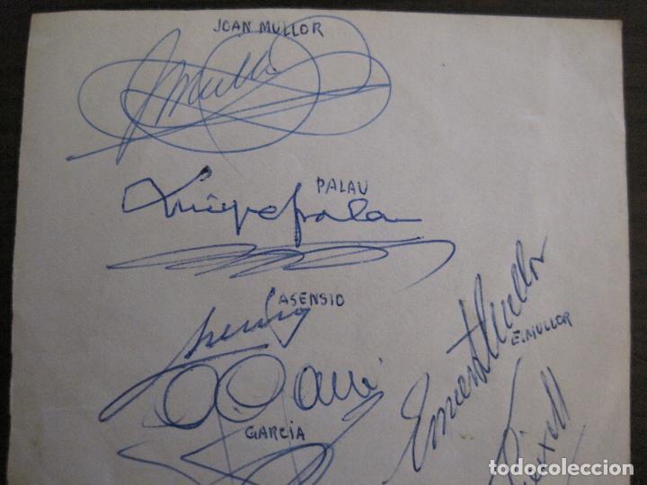Coleccionismo deportivo: AUTOGRAFOS- MENU APAT ANY 1983-PATI BLAU-ESPORTS MUNTANYA-VER FOTOS -(V-15.062) - Foto 6 - 136622158