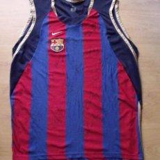 Coleccionismo deportivo: CAMISETA F.C.BARCELONA. BALONCESTO 2001-2002 14 AUTÓGRAFOS. NIKE. XL. JASIKEVICIUS, NAVARRO.... Lote 136754146