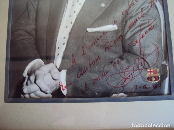 Coleccionismo deportivo: (F-181067)FOTOGRAFIA CON AUTOGRAFO PRESIDENTE DEL C.F.BARCELONA ENRIC LLAUDET 7-6-1961 - Foto 4 - 137203034