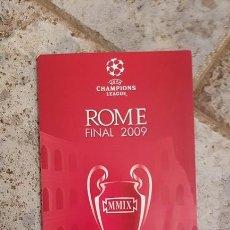 Coleccionismo deportivo: FC BARCELONA BOLETIN BIENVENIDA ORIGINAL FINAL ROMA ROME 2009 FIRMADO JUGADORES. Lote 137669362