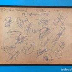 Coleccionismo deportivo: VALENCIA C.F. AÑO 1978 AUTOGRAFOS DE JUGADORES: KEMPES, BOTUBOT, ARIAS, SOLSONA, FELMAN, SAURA, .... Lote 140350138