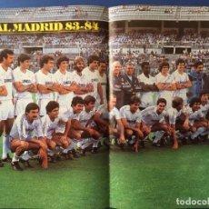Coleccionismo deportivo: POSTER REAL MADRID 83/84. AUTOGRAFOS TODA LA PLANTILLA. Lote 140458618