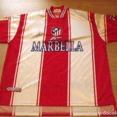 Collectionnisme sportif: CAMISETA FUTBOL ATLÉTICO MADRID. FIRMADA AUTÓGRAFO KIKO. MARBELLA. REEBOK. L. BUEN ESTADO.. Lote 140488646