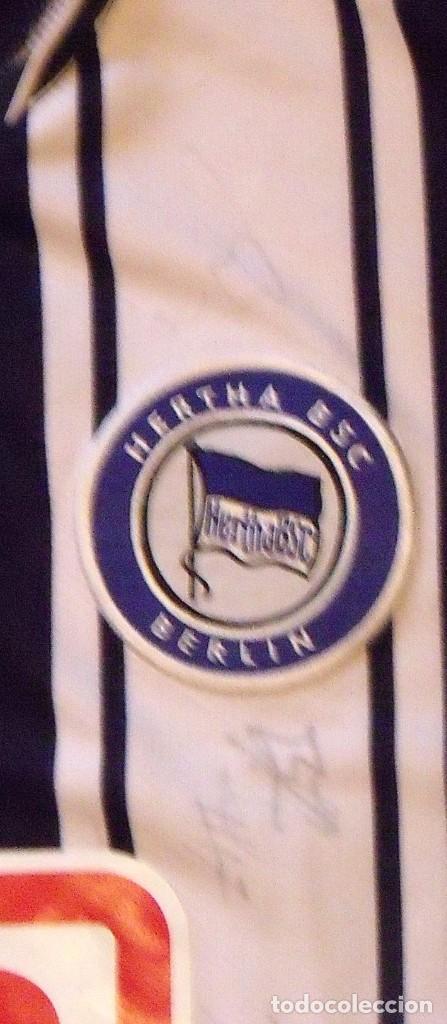 Coleccionismo deportivo: CAMISETA MATCH WORN HERTHA BSC BERLIN. FUTBOL 8 AUTÓGRAFOS. NIKE XXL. OKORONKWO. DB. 2007-2008. - Foto 5 - 140497934