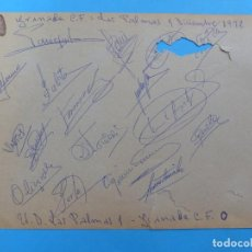 Coleccionismo deportivo: GRANADA C.F. - AÑO 1972 AUTOGRAFOS DE JUGADORES: PASIEGUITO ENTRENADOR, JAEN, PORTA, CASTELLANOS .... Lote 141185494