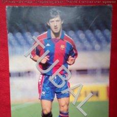 Coleccionismo deportivo: TUBAL AUTOGRAFO TARJETON FOTOGRAFIA BAKERO AL REVERSO 34 CM 250 GRS. Lote 143617346