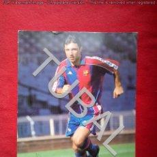 Coleccionismo deportivo: TUBAL AUTOGRAFO TARJETON FOTOGRAFIA STOICHKOV 34 CM 250 GRS. Lote 143617698