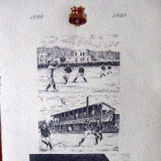 Coleccionismo deportivo: FUT-33. C. F. BARCELONA. INVITACIÓN BANQUETE 50 ANIVERSARIO .1949.FIRMADO POR TODOS LOS JUGADORES.. Lote 143739994