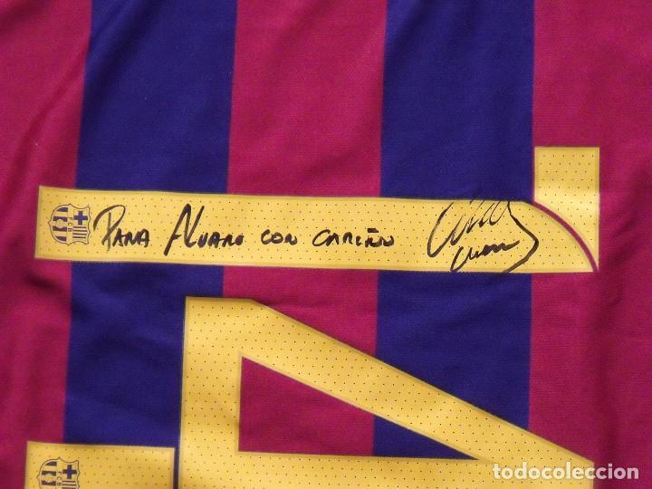 Coleccionismo deportivo: CAMISETA F.C.BARCELONA. NIKE. TALLA L. FIRMADA, DEDICADA Y AUTÓGRAFO JAVIER MASCHERANO. NUEVA. - Foto 10 - 144117226