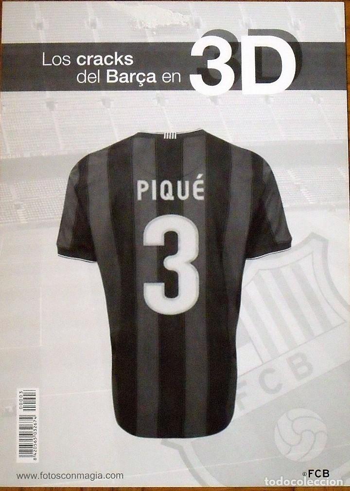 Coleccionismo deportivo: POSTER EN 3D CON TARJETA F.C.BARCELONA PEGADA Y AUTÓGRAFO, FIRMA DE GERARD PIQUÉ. 42X30 CM. - Foto 5 - 144117542