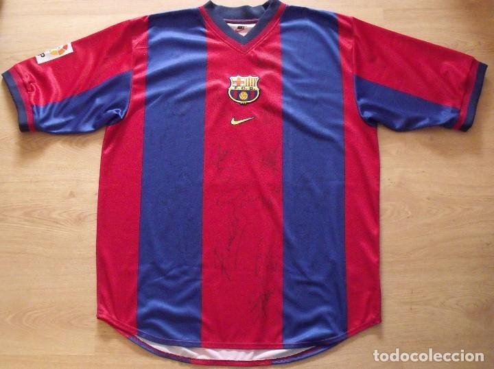 Coleccionismo deportivo  CAMISETA F.C.BARCELONA 1998-1999 NIKE XL GUARDIOLA.  21 AUTÓGRAFOS XAVI 9cd3629c1c1ef