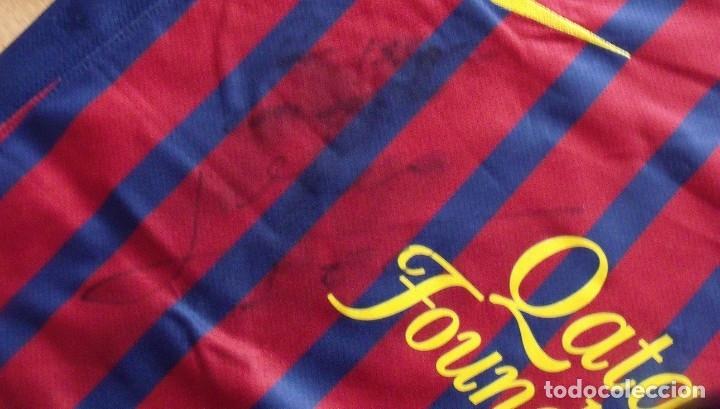 Coleccionismo deportivo: CAMISETA FUTBOL F.C. BARCELONA. LEO MESSI. AUTÓGRAFO, FIRMA Y DEDICADA. NIKE L. QATAR FOUNDATION. - Foto 5 - 136735458