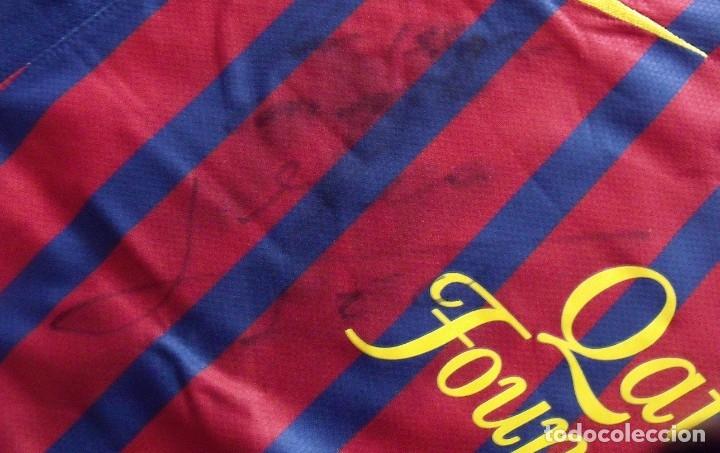 Coleccionismo deportivo: CAMISETA FUTBOL F.C. BARCELONA. LEO MESSI. AUTÓGRAFO, FIRMA Y DEDICADA. NIKE L. QATAR FOUNDATION. - Foto 6 - 136735458