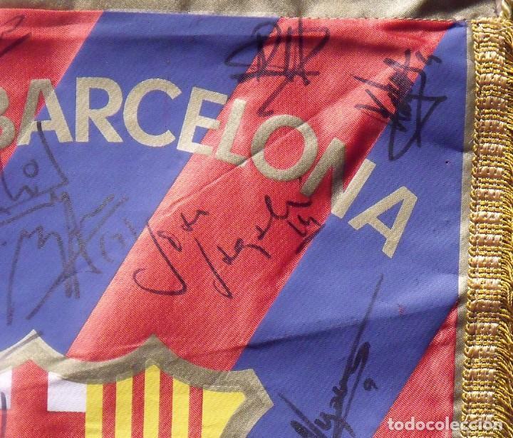 Coleccionismo deportivo: F.C.BARCELONA. BANDERÍN 19 AUTÓGRAFOS BALONMANO 1990-91. FIRMAS: VUJOVIC, URDANGARIN, MASIP, RIVERA. - Foto 12 - 145164238