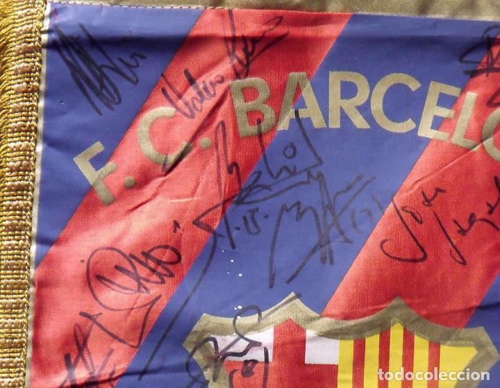 Coleccionismo deportivo: F.C.BARCELONA. BANDERÍN 19 AUTÓGRAFOS BALONMANO 1990-91. FIRMAS: VUJOVIC, URDANGARIN, MASIP, RIVERA. - Foto 13 - 145164238