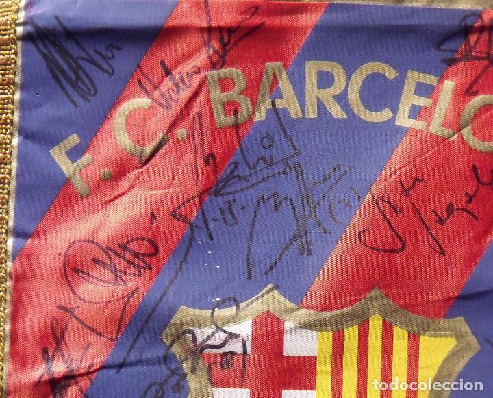 Coleccionismo deportivo: F.C.BARCELONA. BANDERÍN 19 AUTÓGRAFOS BALONMANO 1990-91. FIRMAS: VUJOVIC, URDANGARIN, MASIP, RIVERA. - Foto 14 - 145164238