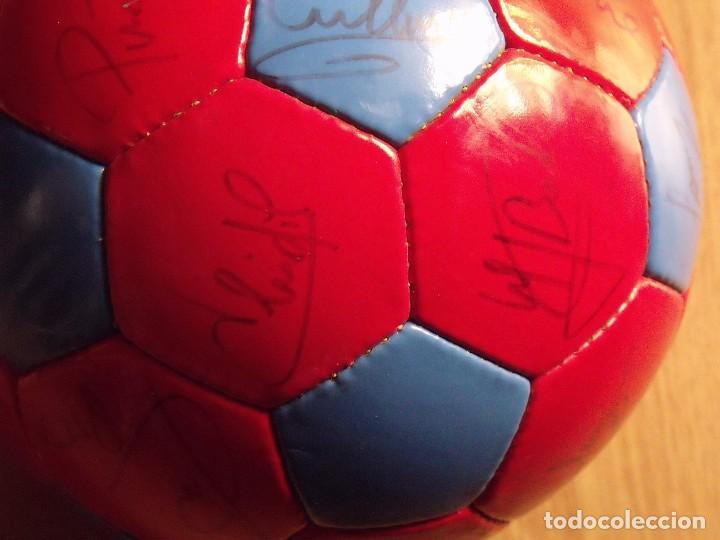 Coleccionismo deportivo: BALÓN, PELOTA F. C. BARCELONA 1996-97. 22 AUTÓGRAFOS, FIRMAS: RONALDO, FIGO, STOICHkOV, GUARDIOLA... - Foto 15 - 145165630