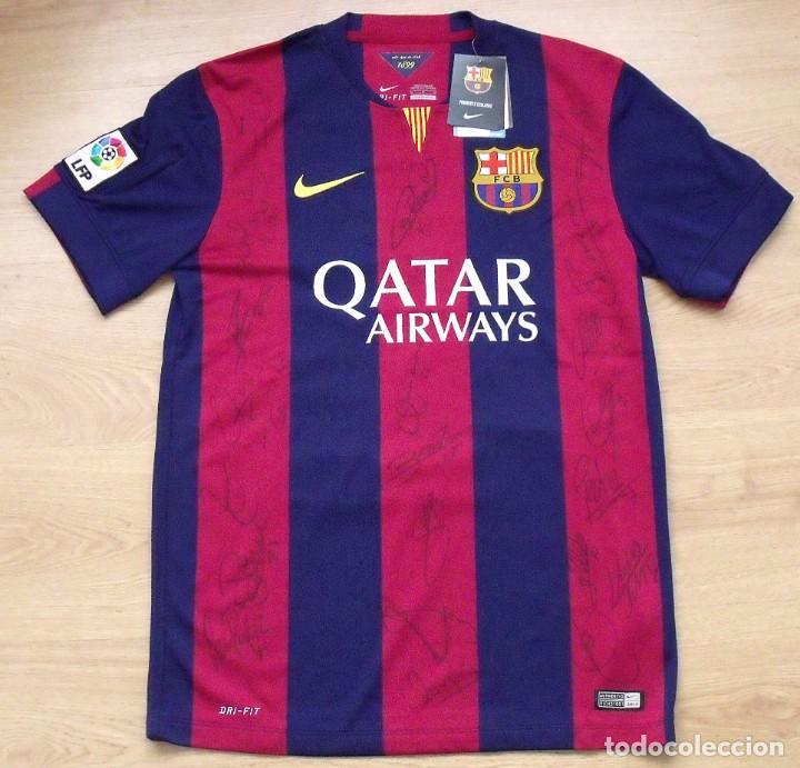 camiseta f.c.barcelona. 21 autógrafos jugadores - Comprar Autógrafos ... 8e6510ec411