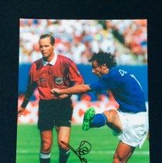 Coleccionismo deportivo: DONADONI - AUTOGRAFO ORIGINAL EN FOTO ( 20X30 CM ) - CON CERTIFICADO DE AUTENTICIDAD. Lote 147079138