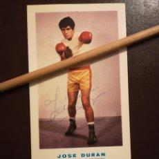 Coleccionismo deportivo: JOSÉ DURÁN AUTÓGRAFO, FUE CAMPEÓN DE EUROPA E 1974 Y CAMPEÓN DEL MUNDO EN 1976. Lote 147405984
