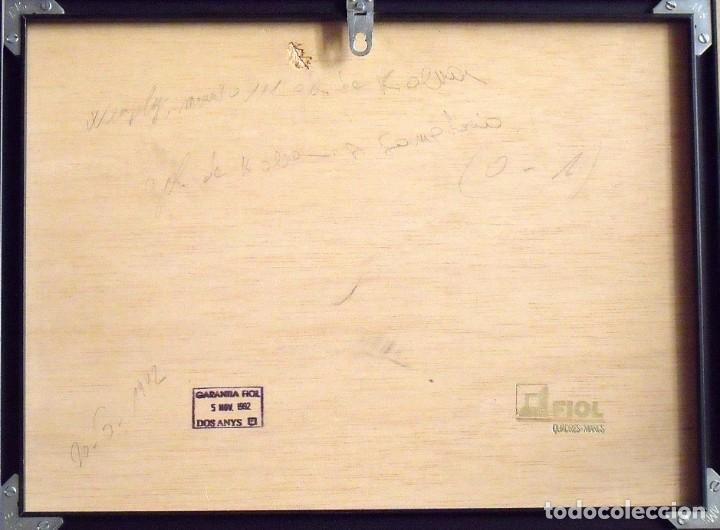 Coleccionismo deportivo: Ronald Koeman. Fotografía con autógrafo original, firma y dedicatoria. F.C. Barcelona. Wembley 1992. - Foto 4 - 150243830