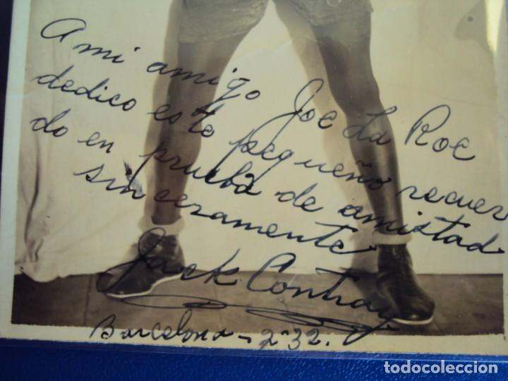 Coleccionismo deportivo: (F-06)FOTOGRAFIA DEDICADA DEL BOXEADOR JACK CONTRAY A JOE LA ROE - Foto 2 - 151191686
