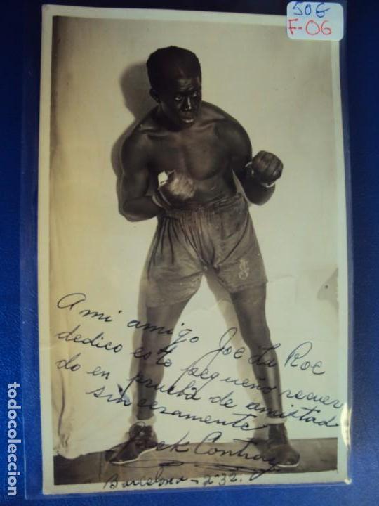(F-06)FOTOGRAFIA DEDICADA DEL BOXEADOR JACK CONTRAY A JOE LA ROE (Coleccionismo Deportivo - Documentos de Deportes - Autógrafos)