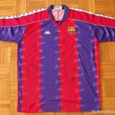 Coleccionismo deportivo: CAMISETA F.C. BARCELONA. DREAM TEAM 1993-94 20 AUTÓGRAFOS. KAPPA XL KOEMAN LAUDRUP STOICHKOV ROMARIO. Lote 153333114