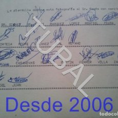 Coleccionismo deportivo: TUBAL RCD ESPAÑOL 1973 FIRMAS DE LOS JUGADORES DEL INFANTIL A. Lote 154873278
