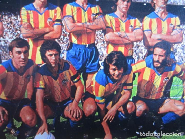 Coleccionismo deportivo: FÚTBOL.FUTBOLISTA.AUTÓGRAFO FIRMA ORIGINAL Y AUTÉNTICA DEL VALENCIA EN LOS AÑOS 70. - Foto 2 - 155099590