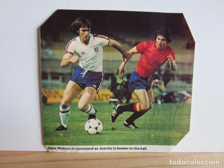 FÚTBOL.FUTBOLISTA.AUTÓGRAFO FIRMA ORIGINAL Y AUTÉNTICA DE JUANITO.REAL MADRID.SELECCIÓN ESPAÑA (Coleccionismo Deportivo - Documentos de Deportes - Autógrafos)